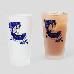Louisiana Flag Map Drinking Glass