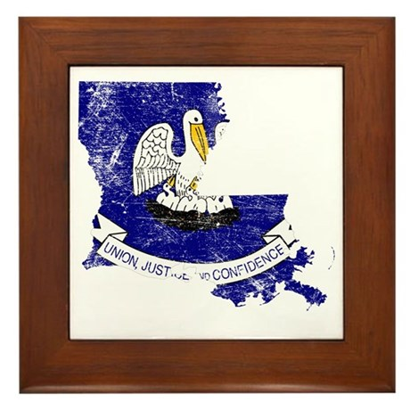 Louisiana Flag Framed Art Tiles Buy Louisiana Flag Framed Tile
