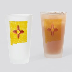 New Mexico Flag Map Drinking Glass