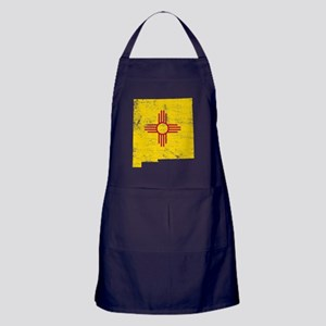 New Mexico Flag Map Apron (dark)