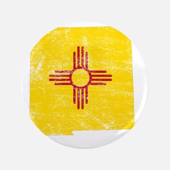 "New Mexico Flag Map 3.5"" Button"