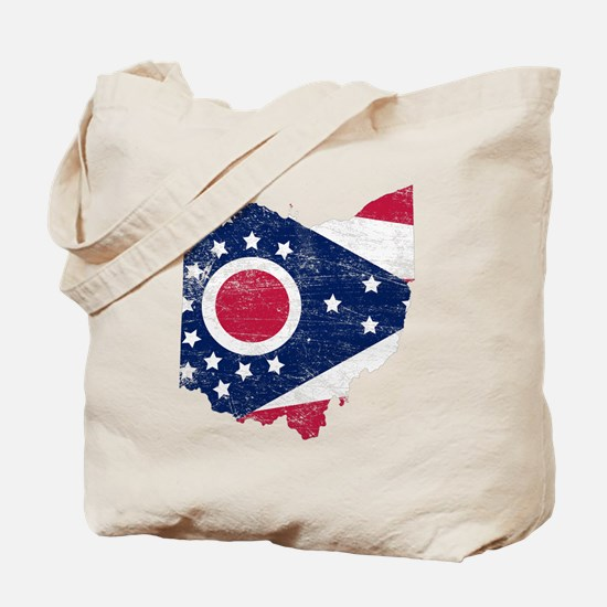 Ohio Flag Map Tote Bag