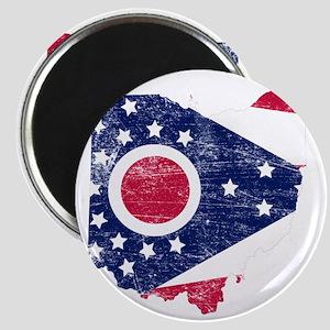 Ohio Flag Map Magnet