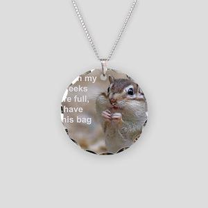 Chipmunk bag 2 Necklace Circle Charm