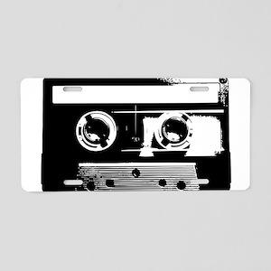 Cassette Tape Aluminum License Plate