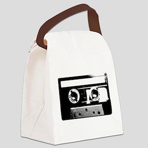 Cassette Tape Canvas Lunch Bag