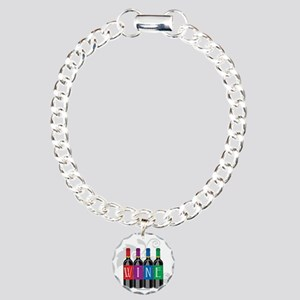 Wine-Bottles Charm Bracelet, One Charm