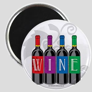 Wine-Bottles Magnet