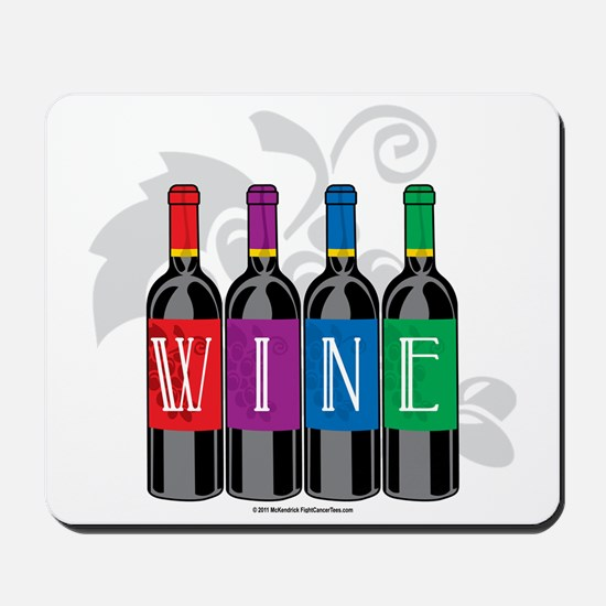 Wine-Bottles Mousepad