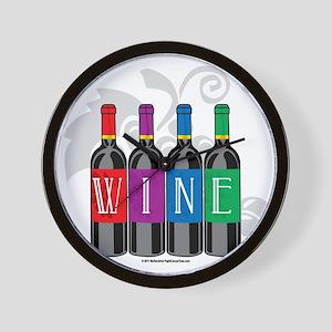 Wine-Bottles Wall Clock