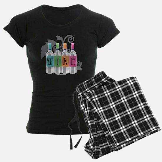 Wine-Bottles-blk Pajamas