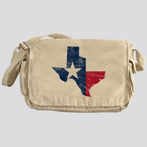 Texas Flag Map Messenger Bag