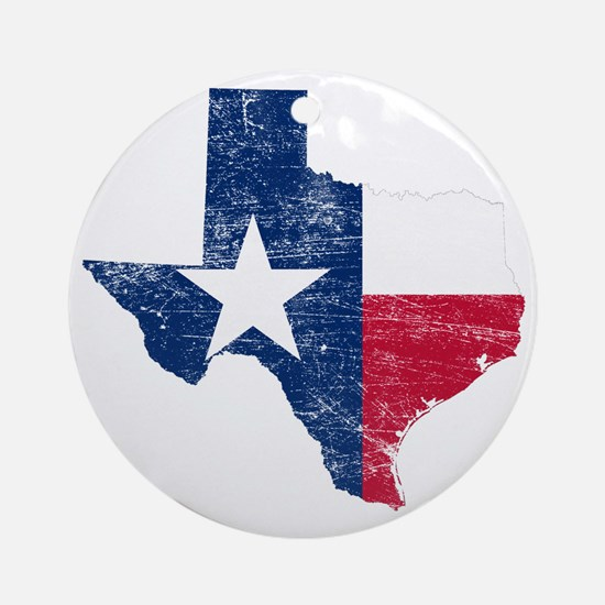 Texas Flag Map Round Ornament