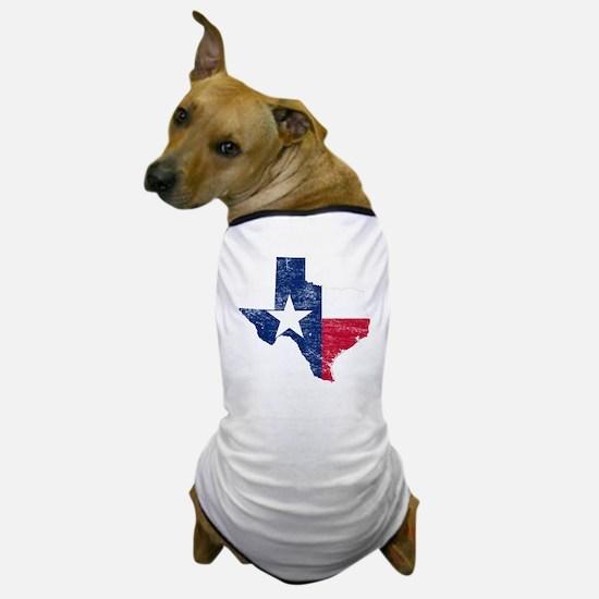 Texas Flag Map Dog T-Shirt