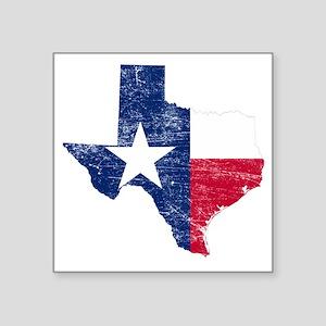 "Texas Flag Map Square Sticker 3"" x 3"""