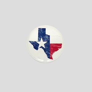 Texas Flag Map Mini Button