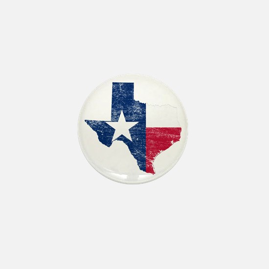 Texas Flag Map Mini Button