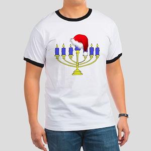 Christmas Menorah Ringer T