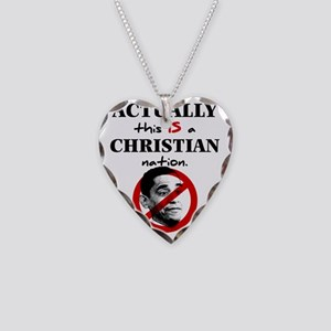 Christian Nation Necklace Heart Charm