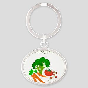 future vegetarian Oval Keychain