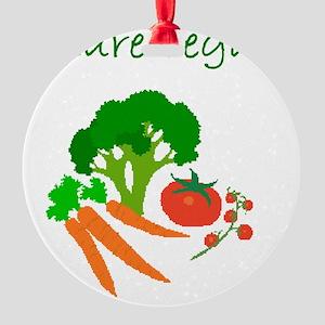 future vegan Round Ornament