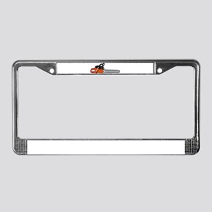 Chainsaw License Plate Frame