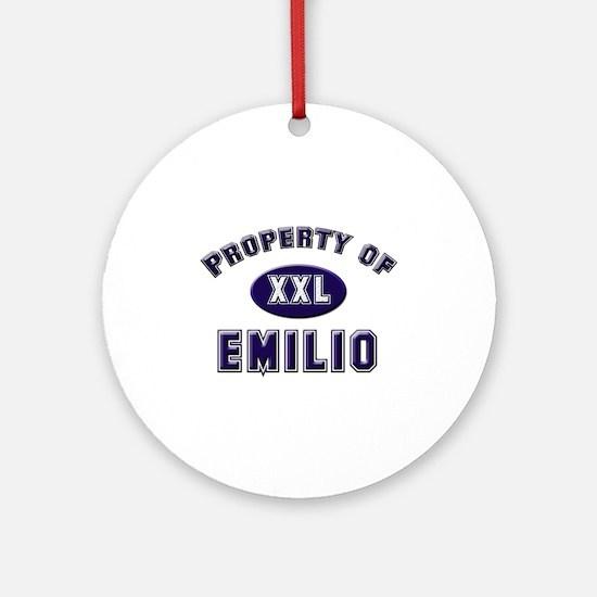 Property of emilio Ornament (Round)