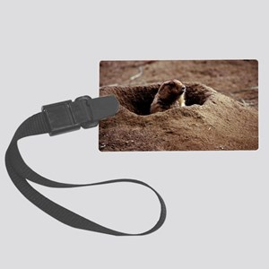 A Black-Tailed Prairie Dog pukin Large Luggage Tag