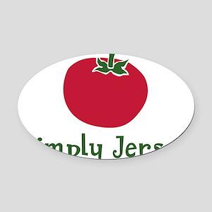 JT-002Wsc_JerseyTomato Oval Car Magnet