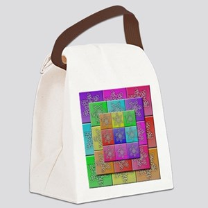 QuiltedSnowflakes Canvas Lunch Bag