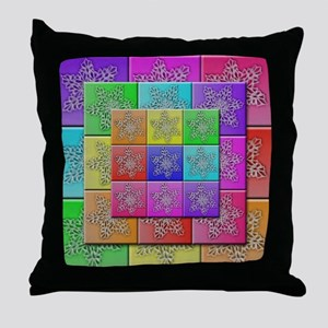 QuiltedSnowflakes Throw Pillow