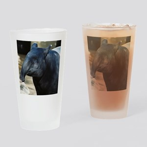 Portrait of a Malayan Tapir Drinking Glass