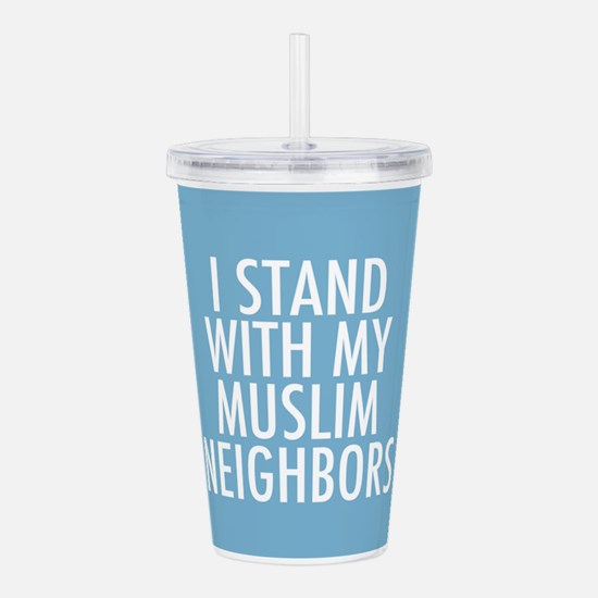 Stand with Muslims Acrylic Double-wall Tumbler