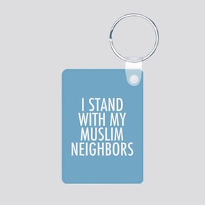 Stand with Muslims Aluminum Photo Keychain