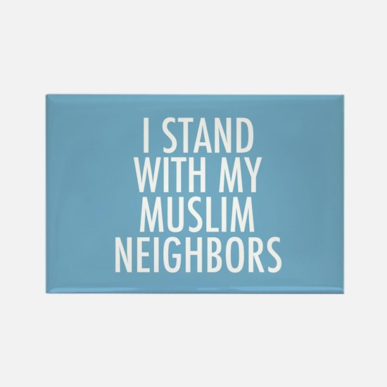Stand with Muslims Rectangle Magnet