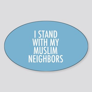 Stand with Muslims Sticker (Oval)