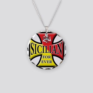 sicilian forever Necklace Circle Charm
