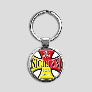 sicilian forever Round Keychain