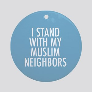 Stand with Muslims Round Ornament