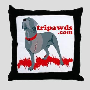 Tripawd Warrior Pocket T Throw Pillow