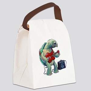 Turtle Tuning Guitar Canvas Lunch Bag
