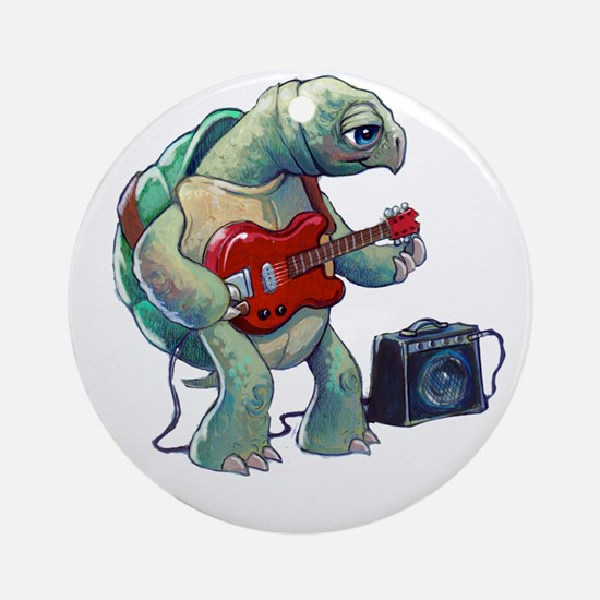 Turtle Tuning Guitar Round Ornament