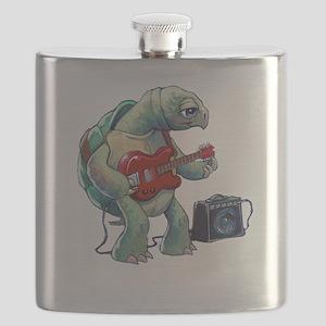 Turtle Tuning Guitar Flask