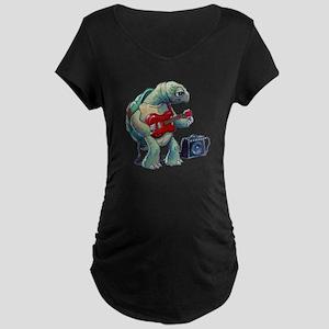 Turtle Tuning Guitar Maternity Dark T-Shirt