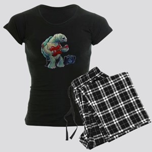 Turtle Tuning Guitar Women's Dark Pajamas
