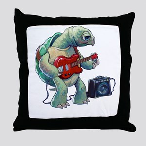 Turtle Tuning Guitar Throw Pillow