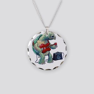 Turtle Tuning Guitar Necklace Circle Charm