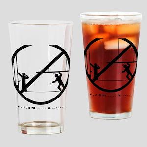 NoPhoneBlack Drinking Glass