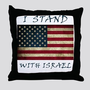 I Stand with Israel - bltrs Throw Pillow