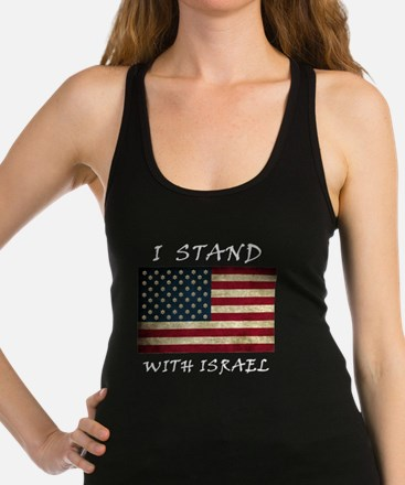 I Stand with Israel - wltrs Racerback Tank Top